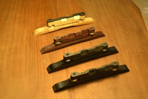 Premium High Crown Mandolin Bridges by Richie Dotson